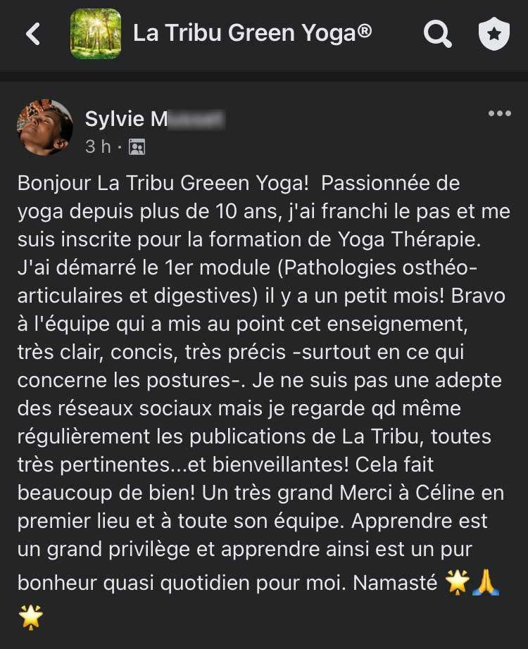 temoignages formation yoga à distance green yoga